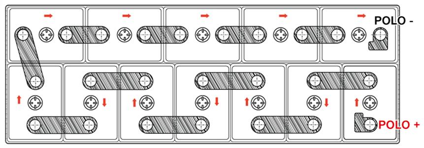 La medición del voltaje de cada celda se debe realizar secuencialmente.
